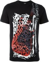 Just Cavalli guitar animal print T-shirt