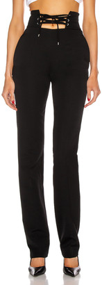 ATTICO High Waisted String Belt Pant in Black | FWRD
