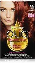 Garnier Olia Oil Powered Permanent Hair Color, 6.60 Light Intense Auburn (Packaging May Vary)