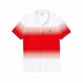 Lacoste Men's Short Sleeve Regular Fit Ombre Polo Shirt