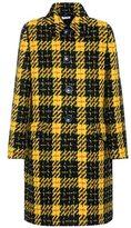 Miu Miu Plaid tweed overcoat