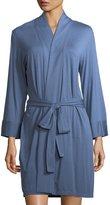 Josie Natori Undercover Wrap Short Jersey Robe