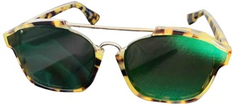 Christian Dior Abstract Green Plastic Sunglasses