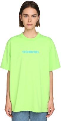 Vetements Oversize Logo Print Jersey T-shirt