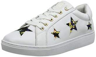 Colours of California Women's leather upper with embossed st Trainers, White WHI 5 UK (38 EU)