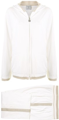 Chanel Pre Owned 2006 Metallic Sheen Trim Tracksuit