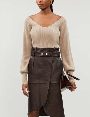 Reformation Hart V-neck cashmere and wool-blend jumper