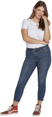 Volcom womensVolcom Junior's Plus Size Liberator Legging Fit Jean Dress - Blue - 22X27
