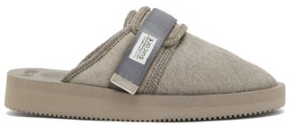Suicoke Zavo Calf-hair Closed-toe Slides - Womens - Grey