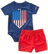 Under Armour Baby Boys Newborn-12 Months American Batter Americana Bodysuit & Shorts Set