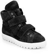 Miu Miu Suede Double-Strap Sneakers