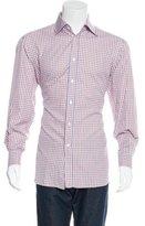 Kiton Gingham Button-Up Shirt