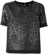 Class Roberto Cavalli jacquard shortsleeved sweatshirt - women - Cotton/Acrylic/Polyester/other fibers - 42
