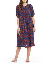 Go Softly Floral Crinkled Patio Dress