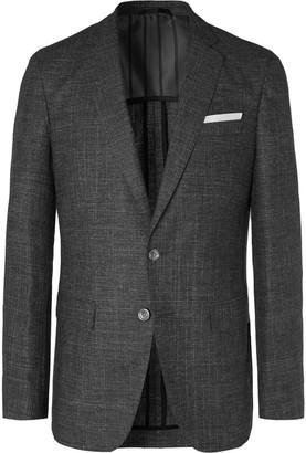 HUGO BOSS Grey Hartley Slim-Fit Melange Woven Blazer
