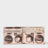 Paul Smith Men's Black Leather 'Boom Box' Print Interior Billfold Wallet