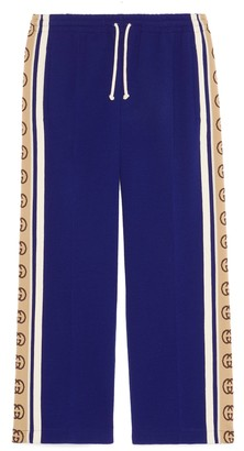Gucci Wool jersey cropped track bottoms