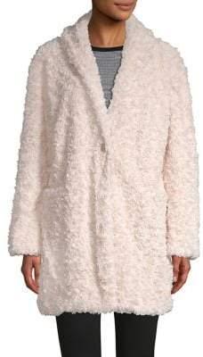 Philosophy di Lorenzo Serafini Notch Lapel Faux Fur Coat