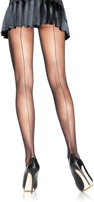 Leg Avenue Women's Plus-Size Plus Backseam Sheer Pantyhose