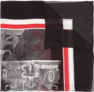 Valentino Pre Owned 2000s Printed Silk Scarf