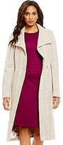 Ivanka Trump Herringbone Single Breasted Belted Walker Coat
