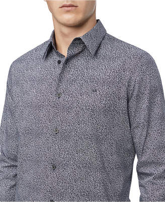 Calvin Klein Men Regular-Fit Stretch Geo-Print Shirt
