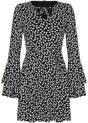 Yumi Leaf Print Skater Dress