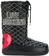 Love Moschino quilted snow boots