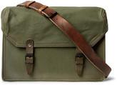Maison Margiela Replica Leather-Trimmed Canvas Messenger Bag