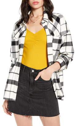 BP x Claudia Sulewski Oversized Flannel Shirt