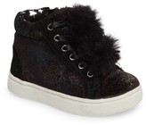Steve Madden Toddler Girl's Brielle Faux Fur High Top Sneaker