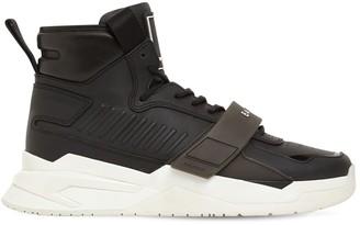 Balmain B Ball High-Top Leather Sneaker W/ Strap