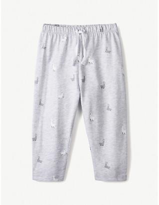 The Little White Company Llama-print cotton leggings 0-24 months