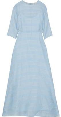 Mansur Gavriel Striped Silk-voile Maxi Dress