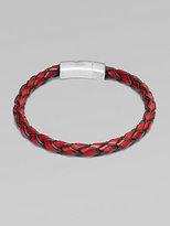 Tateossian Hand-Braided Leather Bracelet