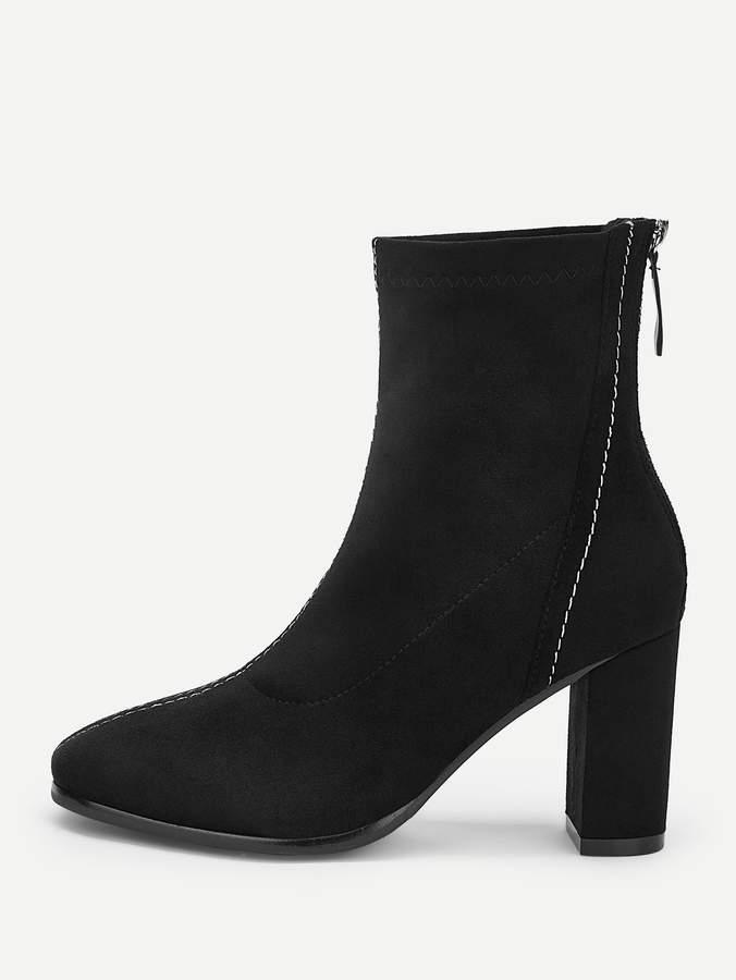 9db41e284c Zipper Back Boots - ShopStyle
