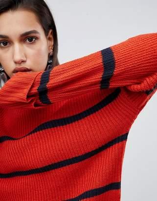 Vero Moda Stripe Detail Jumper-Orange