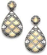 John Hardy Naga 18K Yellow Gold & Sterling Silver Teardrop Earrings