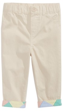First Impressions Baby Boys Cotton Chino Pants With Printed Cuffs, Created for Macy's