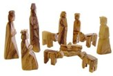 Olive Wood Children's Nativity Set (12 Pieces Set) (3 Inches)