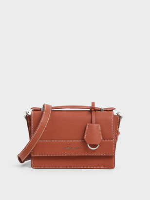 Charles & Keith Front Flap Top Handle Bag