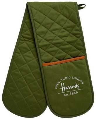 Harrods Logo Double Oven Gloves