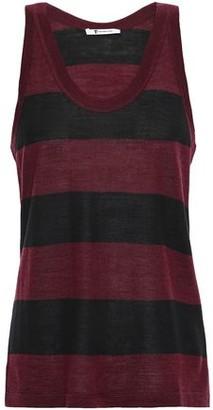Alexander Wang Striped Merino Wool-blend-tank