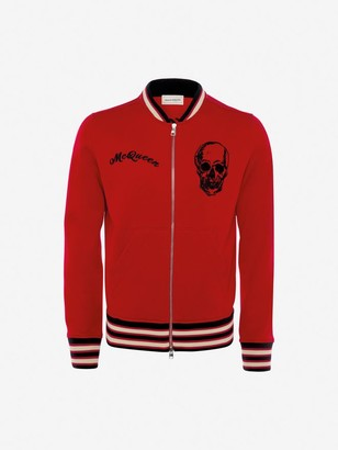 Alexander McQueen Ivy Skull Embroidered Bomber Jacket