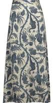 Zimmermann Adorn Printed Satin Midi Skirt