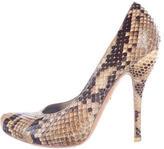 Alexander McQueen Python Round-Toe Pumps
