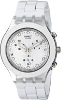 Swatch Men's SVCK4045AG Quartz Chronograph Date Plastic Dial Watch