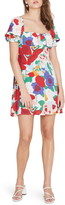 Faithfull The Brand Iris Floral Print Minidress