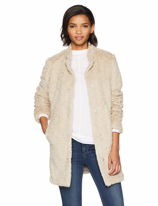 Kenneth Cole New York Kenneth Cole Women's Mid Length Faux Fur Jacket