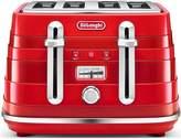De'Longhi DeLonghi AVVOLTA 4 SLICE TOASTER RED